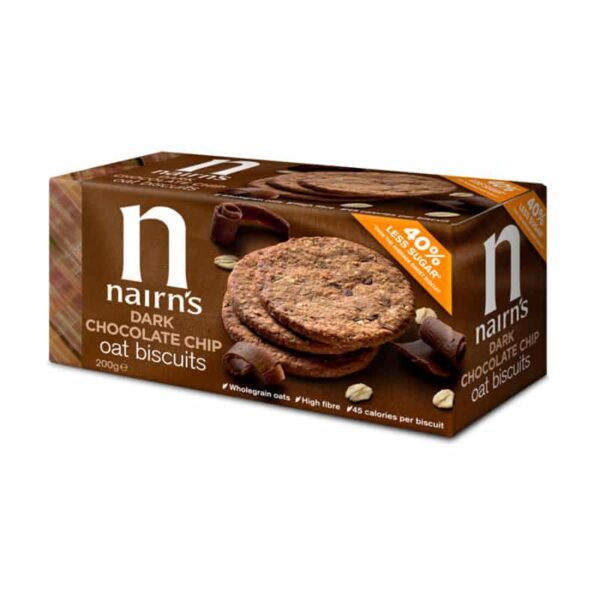 Dark Chocolate Chip Oat Biscuits, Anadea