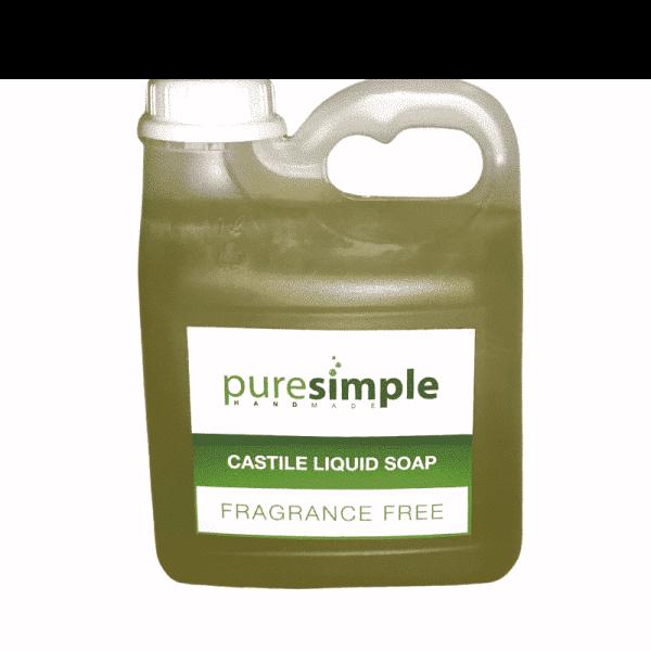 Castile Liquid Soap Cleaner Fragrance Free, Anadea