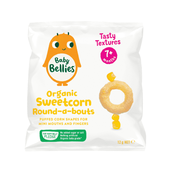 Baby Bellies Organic Sweetcorn Round-a-bouts, Anadea