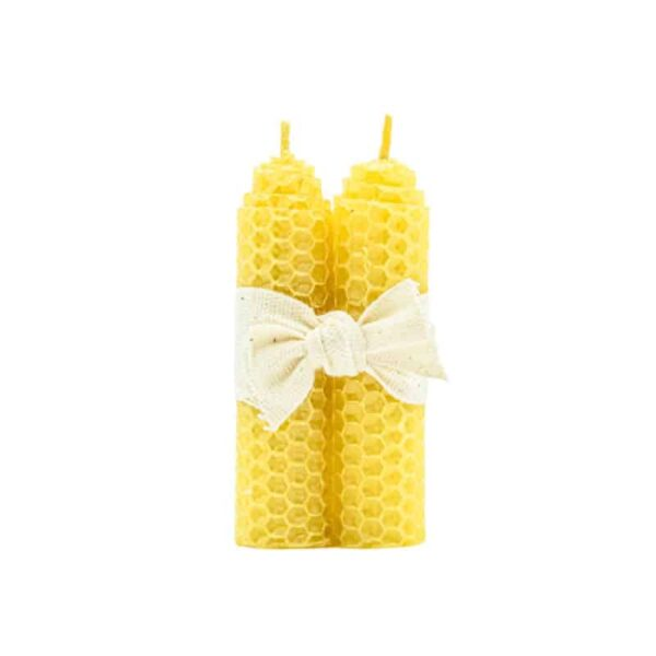 Rolled Beeswax Candle – 8cm, Anadea