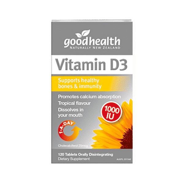 Vitamin D3 dissolving mini-tablet 120s, Anadea