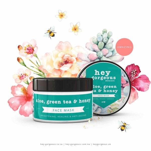 Aloe Green Tea & Honey Face Mask, Anadea