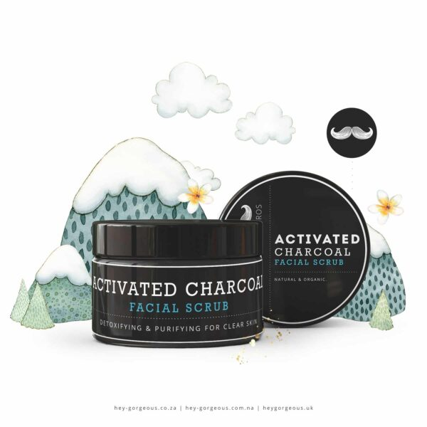 HG For Bros Activated Charcoal Face Scrub, Anadea