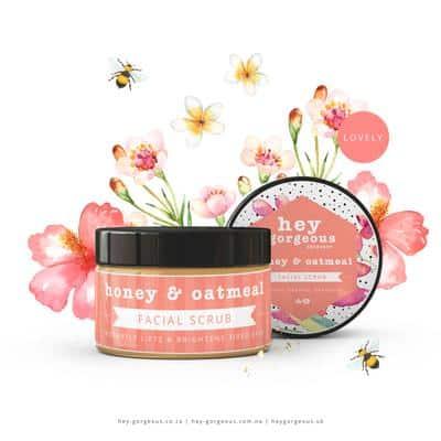 Honey & Oatmeal Facial Scrub, Anadea