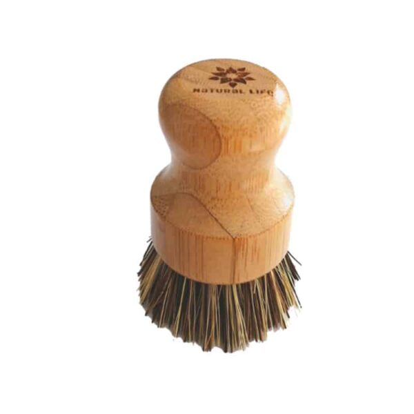 Bamboo Pot Scrubbing Palm Brush, Anadea
