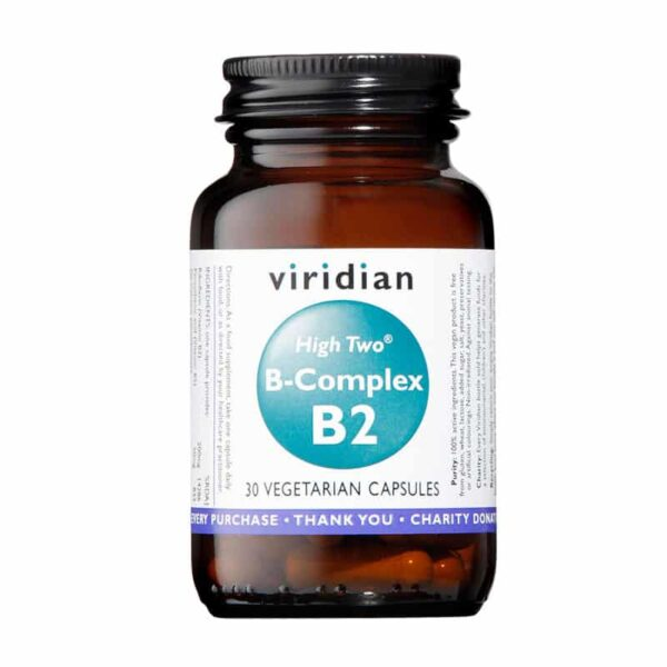 High Two Vitamin B2 w/ B-Complex Veg Caps, Anadea