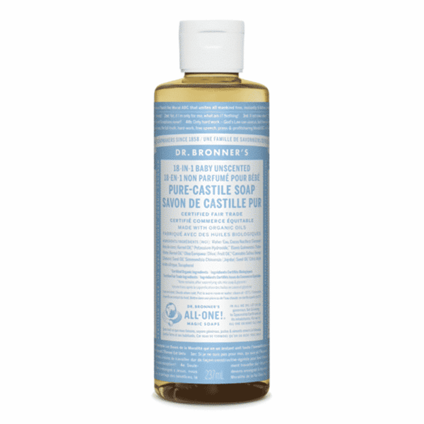 Baby Unscented Pure Castille Liquid Soap, Anadea