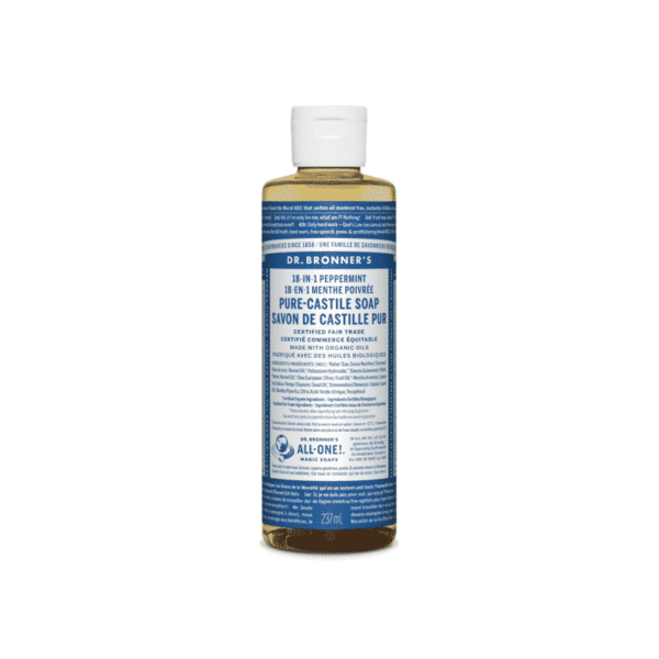 Peppermint Pure Castille Liquid Soap, Anadea