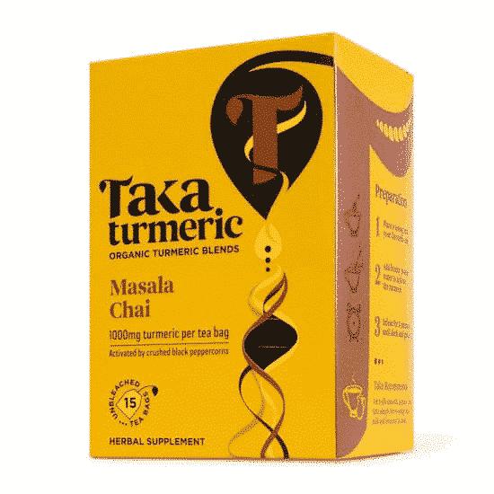 Taka Turmeric Organic Masala Chai (Golden Chai) 15 Teabags, Anadea