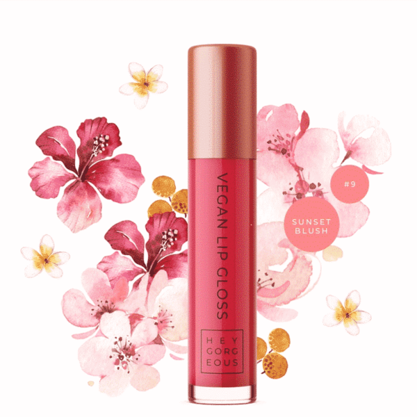 Sunset Blush Vegan Lip Gloss 9, Anadea