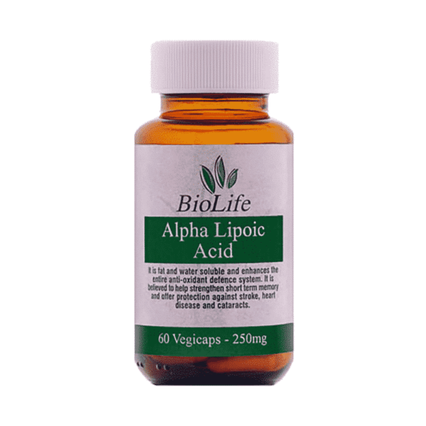 Alpha Lipoic Acid 250mg, Anadea