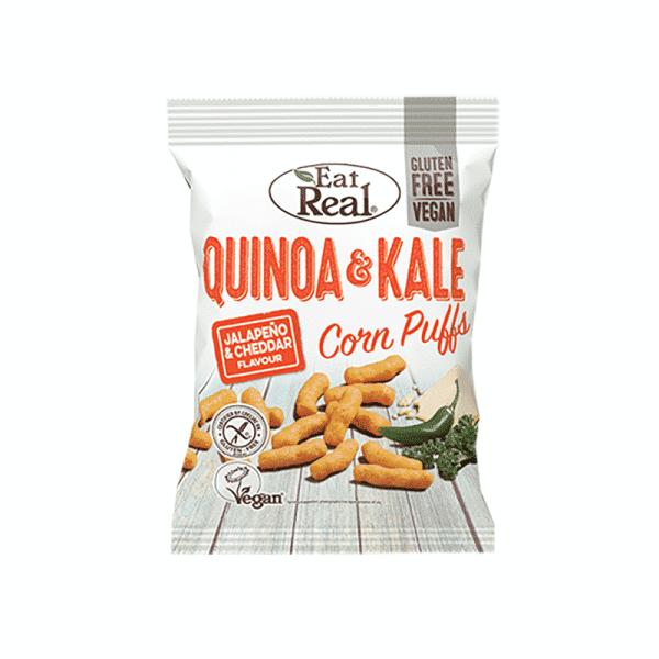 Quinoa & Kale Corn Puffs Jalapeno & Cheddar 40g, Anadea