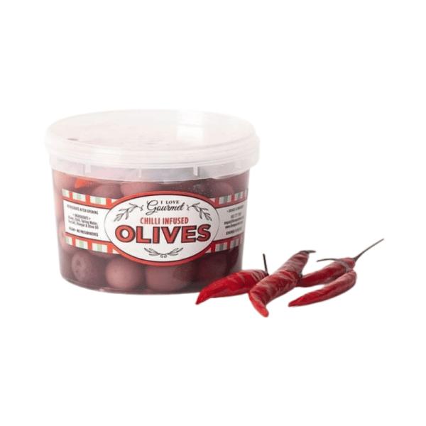 Chilli Infused Olives 500ml, Anadea
